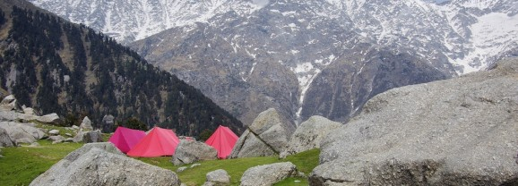 triund hill trek ( india )